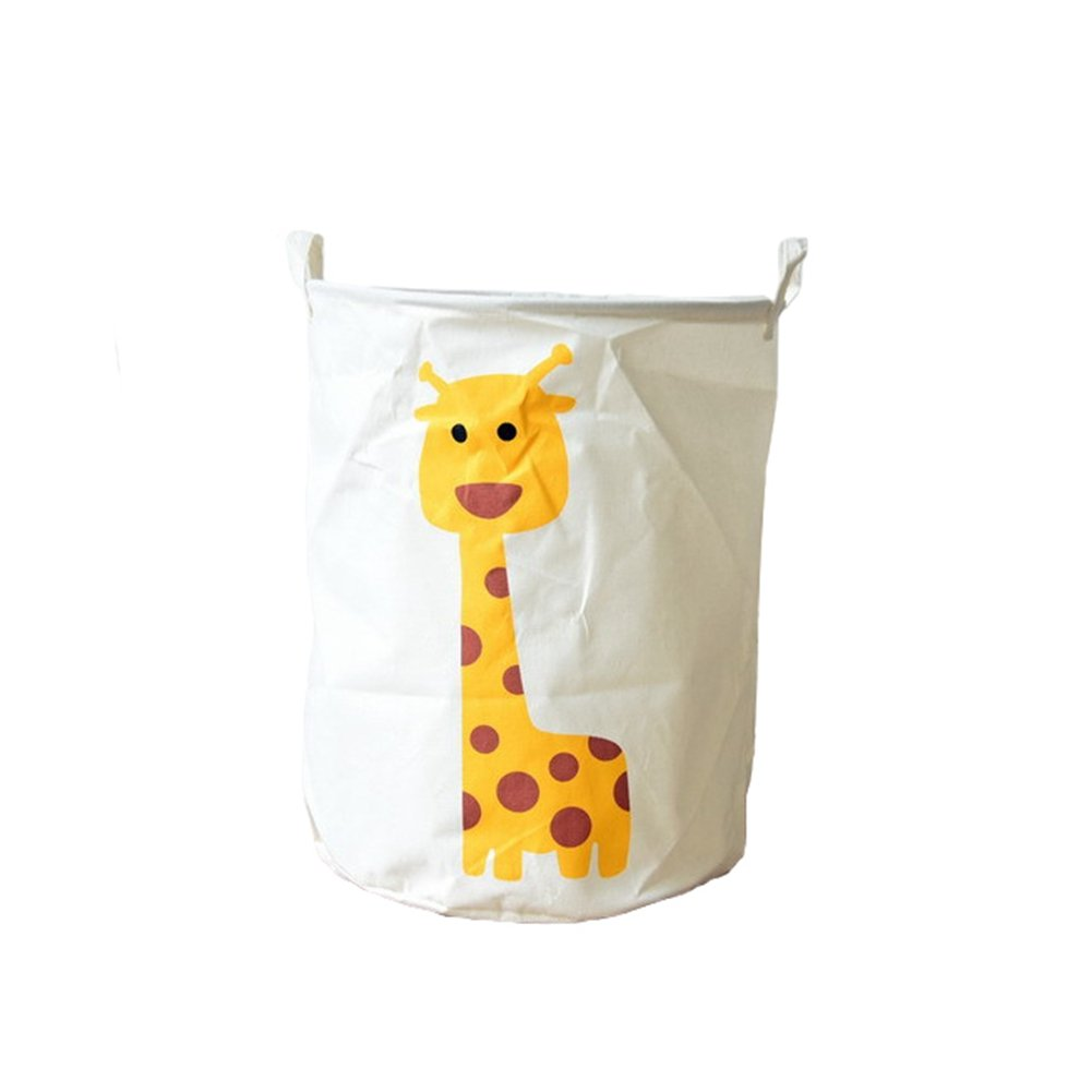 Cotton Cloth Animals Printing Clothes Storage Basket Lightweight Tough Toys Basket