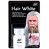 Mehron HAIR WHITE w/Brush 1 oz. - Perfect for Santa Costumes - Washes out