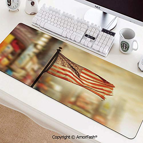 Heat Transferred Printing Waterproof Keyboard Pad,Mouse Mat for Gamer,Office & Home,35.5