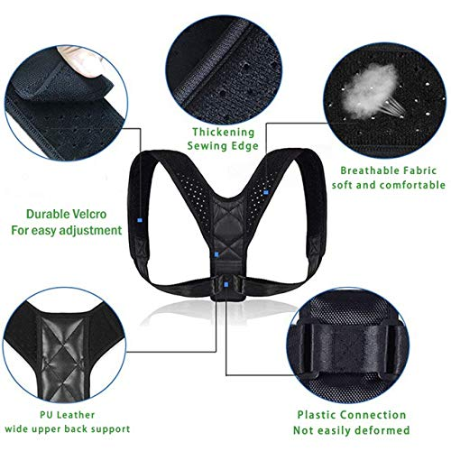DAKIK Posture Corrector for Women & Men - Effective Comfortable Adjustable Posture Correct Brace - Posture Support - Back Brace - Kyphosis Brace (25-50 inches)