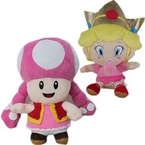 """Amazon.com: 2 x Super Mario Bros 6"""" Toadette & Baby ..."""