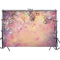 FiVan 5x7ft Deep Pink floral photography background Wedding Birthday photo backdrop FF-072
