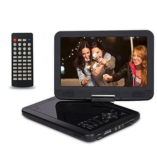 10.5 Inch Portable DVD Player with 270° Swivel Screen, CR...
