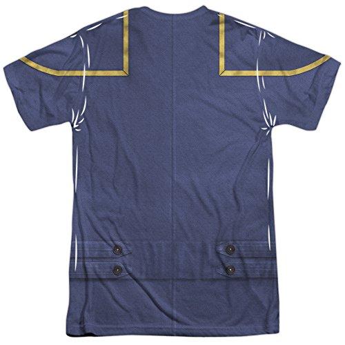 Star Trek Enterprise Command Uniform (Front Back Print) Mens Sublimation Shirt White Xl (Star Trek Enterprise Uniform)