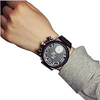 Binmer(TM)Fashion Unisex Men Women Silicone Quartz Analog Wrist Watch Big Dial Watches Black
