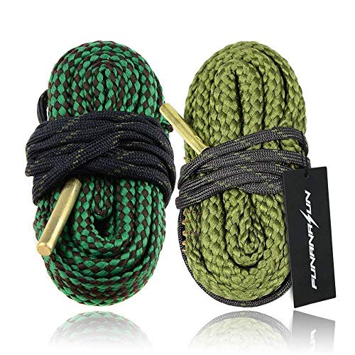 FUNANASUN 2-Pack Bore Cleaner Snake Rifle Shotgun Gun Cleaning Kit for .22.223 Cal, 5.56mm&.38.357.380 Cal&9mm (Best Ar 15 Lube)