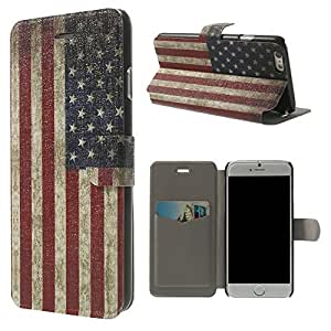 carcasa de la caja LD A000993 protectora para Apple iPhone 6 (4,7 pulgadas), Tema: EE.UU. Bandera, Vintage