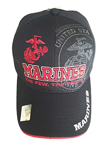Aesthetinc The U.S. Marines Corps Official Licensed Emblem Cap (Black)