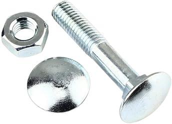 Stahl 10.9 verzinkt 10 Stk Linsenkopfschraube ISO 7380-1 M8 x 50