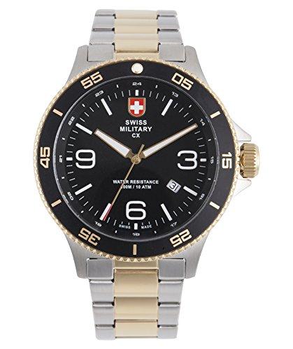 CX Swiss Military Humvee Infantry Watch Swiss Quartz SS Bracelet Black Dial 2903 (Humvee Watch)
