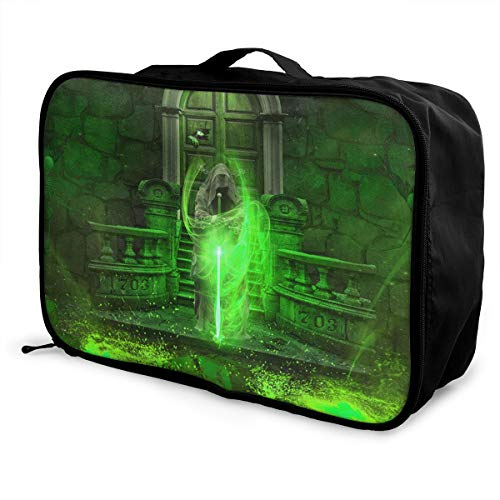 Magician's Sword And Fire Travel Lightweight Waterproof Foldable Storage Carry Luggage Large Capacity Portable Luggage Bag Duffel Bag - Magician Sword