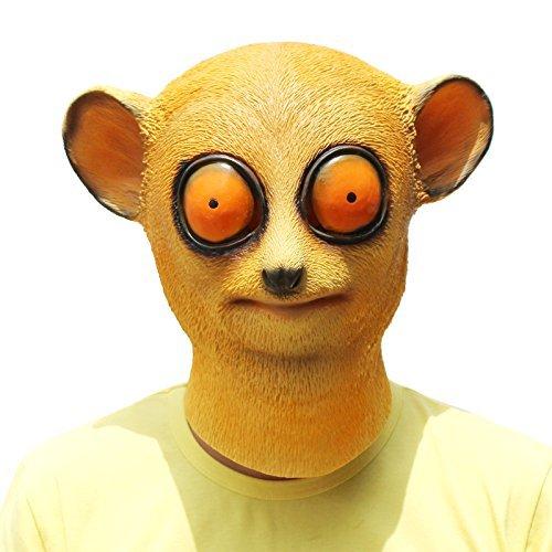 PartyCostume - Slow Loris Mask - Halloween Party Latex Animal Head Mask