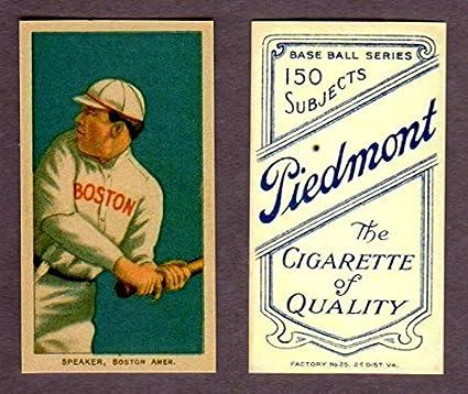 Tris Speaker 1909 11 T206 Baseball Reprint Rookie Card Wpiedmont