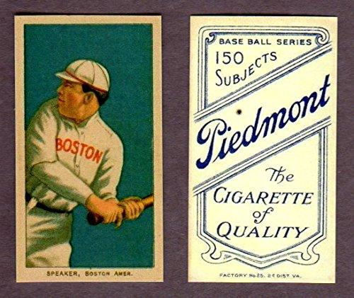 Tris Speaker 1909-11 T206 Baseball Reprint Rookie Card w/Piedmont Back (In it own plastic - Diego Club San Tri