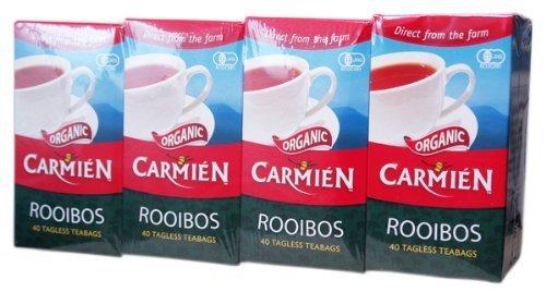 CARMIEN (Kamien) Organic Rooibos Tea 40 Bags (4 Pack, 160 Bags Total) by CARMIEN