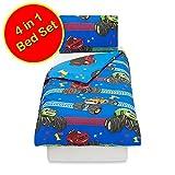 Blaze Vroom 4 in 1 Junior Bedding Bundle (Duvet, Pillow and Covers)