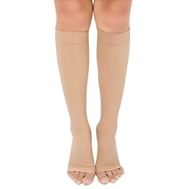 IEFIEL Medias de Compresión para Chica Mujer Calcetines Largos Deportivos Casuales Calenta Piernas Beige 1 Talla única: Amazon.es: Ropa y accesorios
