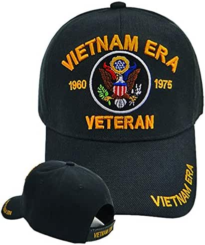 Vietnam ERA Veteran Cap and BCAH Bumper Sticker Embroidered Mens Military Hat