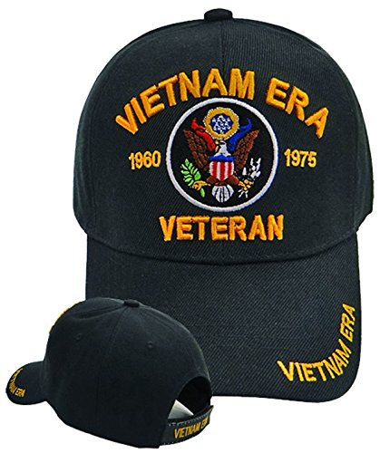 Buy Caps and Hats Vietnam ERA Veteran Emboridered Military Baseball Cap Mens (ERA 1960-1975) ()