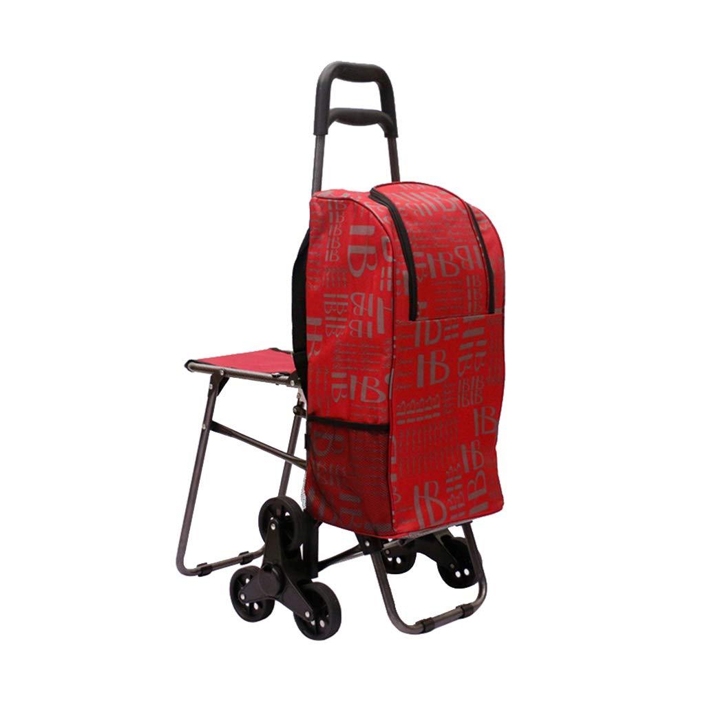 折り畳み式ショッピングカート、トライホイール付きトローリー階段 - 折り畳み式ショッピング食料品トロリー - 多機能トロリー   B07M8PW5WS