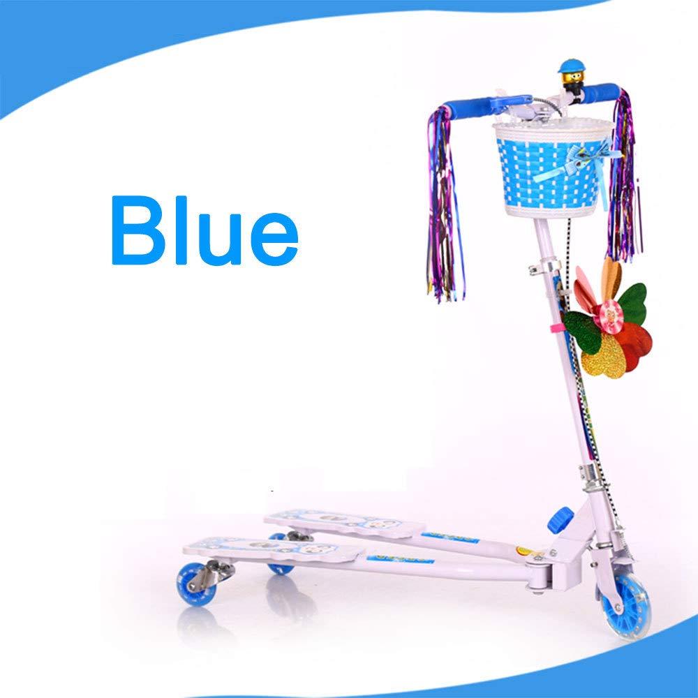 Venta barata azul azul azul LIJIAN Scooter de Rana para niños con 3 Ruedas de PU destelladas Scooter de diseño Ajustable para Mayores de 5 años azul  envío rápido en todo el mundo