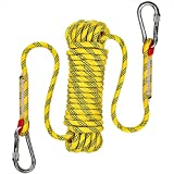 AOSExpert 10 mm Outdoor Static Rock Climbing Rope, Fire Escape Safety...