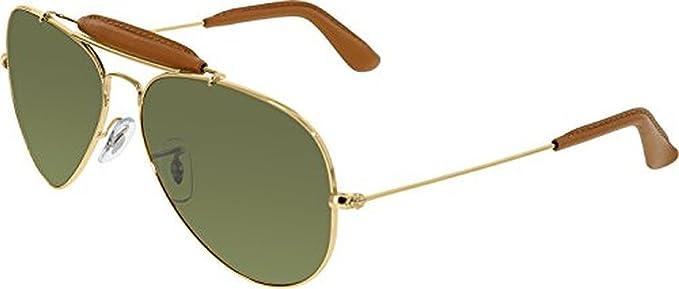 5236c19a9adde Ray-Ban Aviator Craft RB3422Q Sunglasses Arista Light Brown Leather Cr.Pol