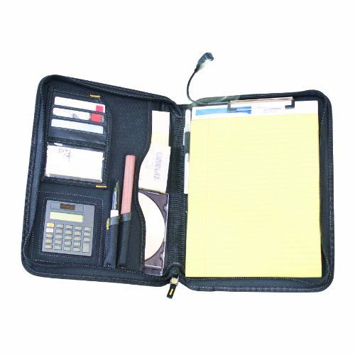 Construction Binder - DEWALT DG5142 Pro Contractor's Business Portfolio with Flex-Light, Built-In Calculator, Full Zipper Enclosure