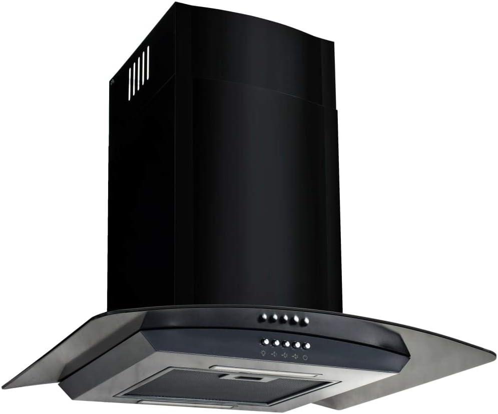 vidaXL Campana Extractora Pared 60cm Negro Electrodoméstico Ventilador Cocina: Amazon.es: Grandes electrodomésticos