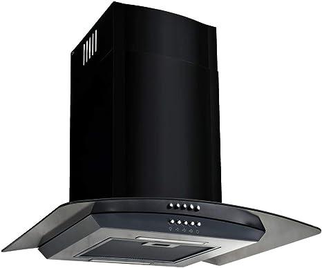 xinglieu campana en la pared de acero inoxidable 756 M3/h 60 cm negra filtro campana extractora cocina campana: Amazon.es: Grandes electrodomésticos
