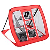 Oguine Portable Golf Practice Net Pop-Up Foldable Driving Range Indoor Garden Training Cage Hitting Chipping Net Golf Training Aid