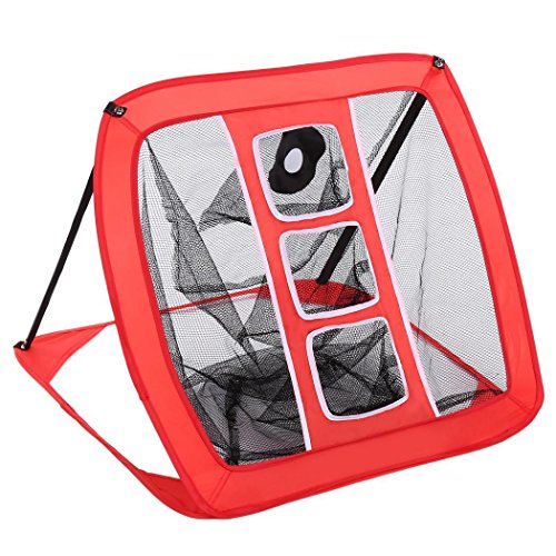 OPLON Pop-Up Golf Net Portable Folding Golf Net Indoor Garden Training Cage with Chipping Target and Carry Bag
