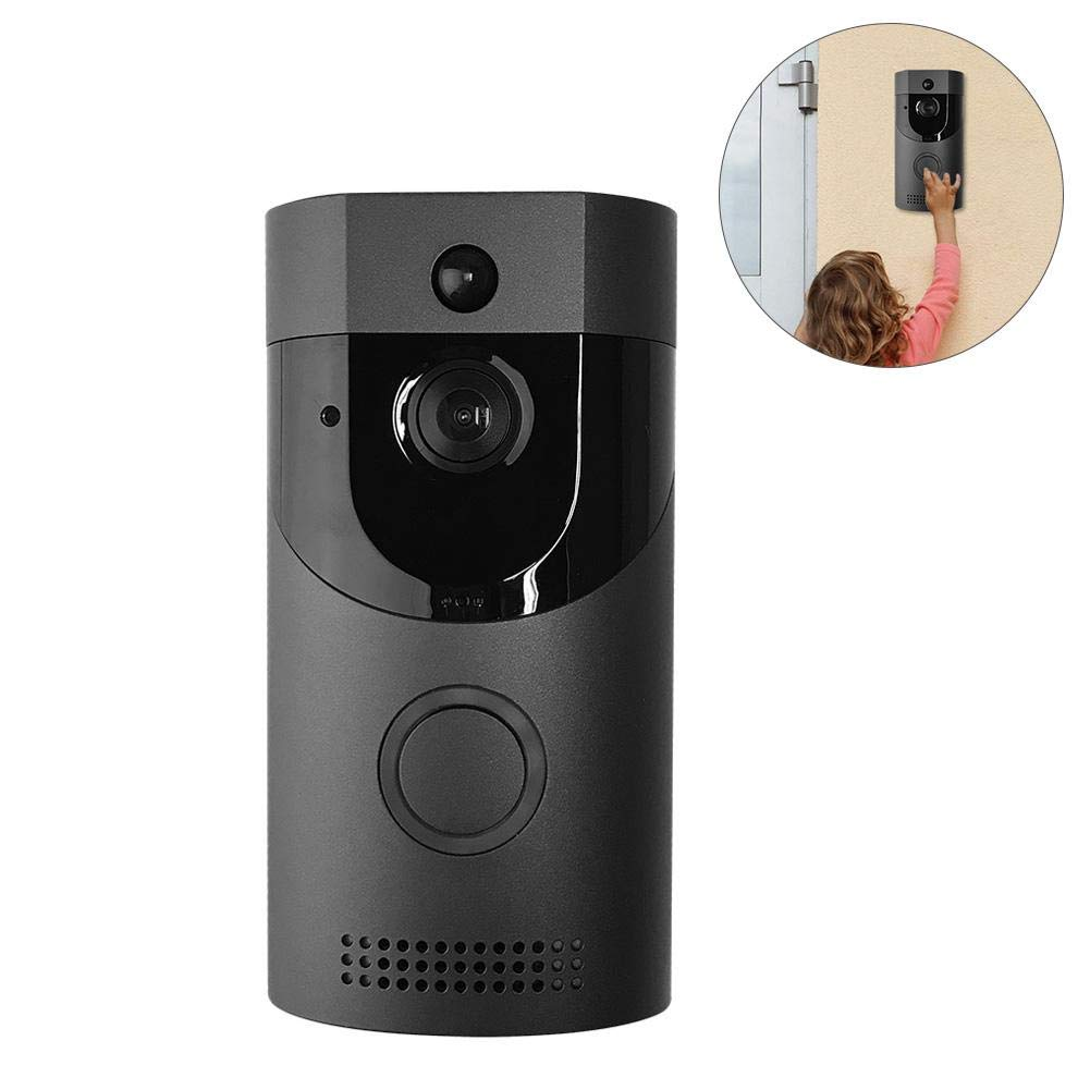 Wireless WiFi Smart Door Bells, Video Doorbell Intercom Low Power Consumption Door Chimes B30 720P HD WiFi Security Camera Two-Way Talk Night Vision Without battery and TF Card HUZHAO