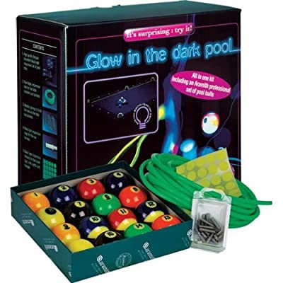 Image of Aramith Glow in the Dark (Black Light) Billiard/Pool Table Kit with Complete 16 Ball Set Billiard Balls