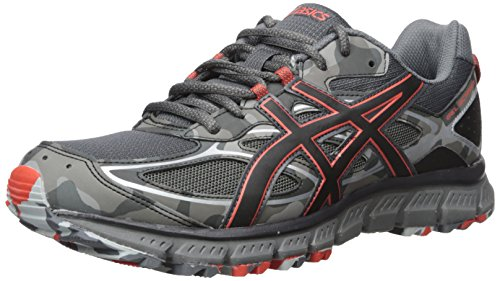 ASICS Men's Gel-Scram 3 Running Shoe, Dark Grey/Black/Red Clay, 9.5 Medium US Mens Trail Running Shoes