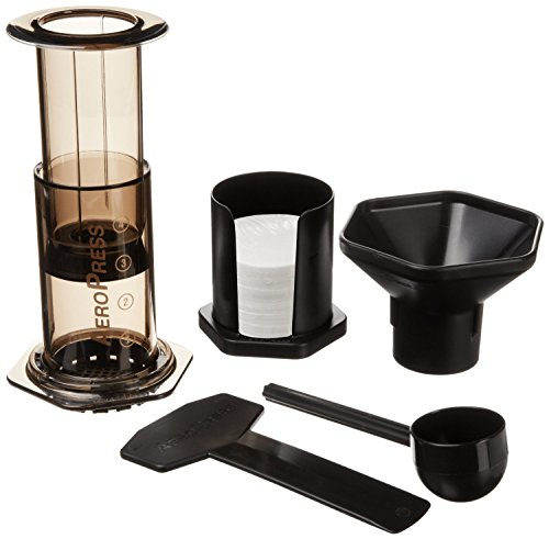 (AeroPress Coffee and Espresso Maker - Quickly Makes Delicious Coffee without Bitterness - 1 to 3 Cups Per Pressing)