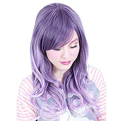 Dayiss, Perruque Femme violette longue cosplay: