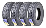 Set of 4 New Premium Free Country Trailer Tires ST 225/75R15 10PR Load Range E w/Featured Side Scuff Guard