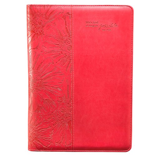 PinkAll Things Are Possible Legal Size Zippered Portfolio - Matthew 19:26