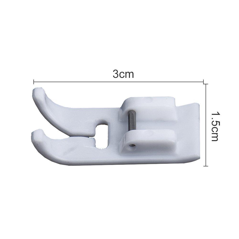 Doyime 3//8 Pied de curling pour bord de couture /électrique multifonction domestique