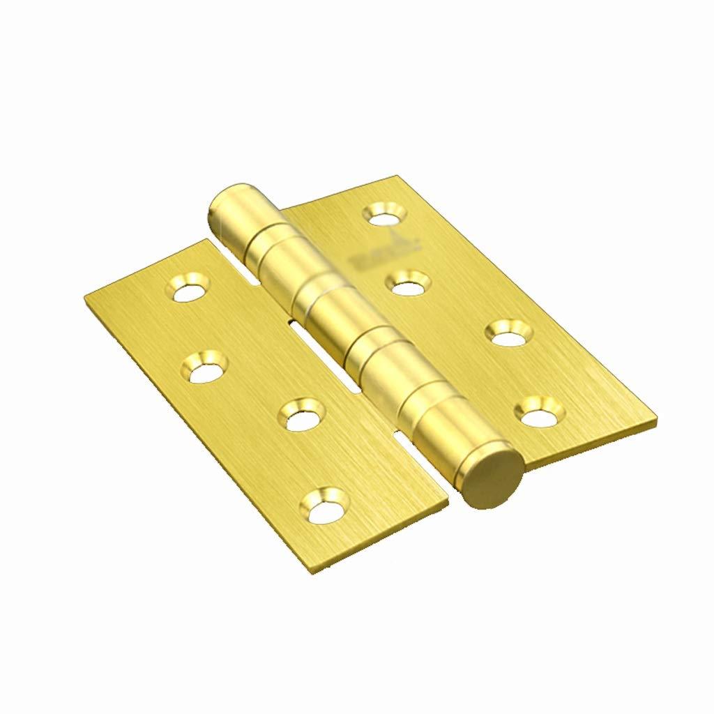 LEZDPP 304 Stainless Steel Thickening Mute 4 Inch Hinge Bearing Loose-Leaf Wooden Door Door Swing Folding Folding Single Piece (Color : B, Size : 2pcs) by LEZDPP