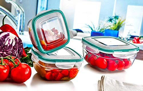 706bfc5793e3 PlastArt Fresh Box Square Combi Set, Food Storage Container Set in ...