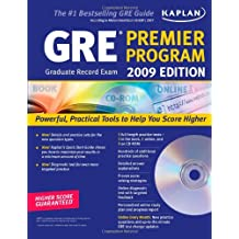Kaplan GRE Exam 2009 Premier Program (w/ CD-ROM)