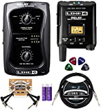 "Line 6 Relay G50 Wireless Guitar System Bundle with 9V DC Power Supply, Blucoil 10' Straight Instrument Cable (1/4""), 2-Pack of Pedal Patch Cables, 2 AA Batteries, and 4-Pack of Celluloid Guitar Picks"