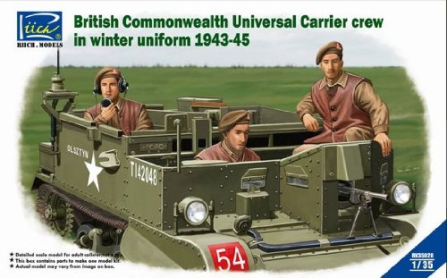 RCH35028 1:35 Riich British Commonwealth Universal Carrier Crew in Winter Uniform 1943-1945 (3 Figures Set) MODEL (Universal Bren Carrier)