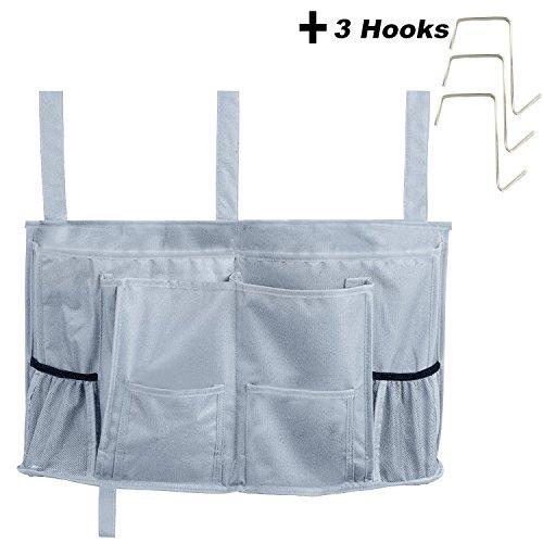 Oululu Bedside Caddy - Bedside Storage Organizer Bag for Bunk Beds Sofa (NEW - Dark grey - 8 Pockets) (Bed New Sofa)