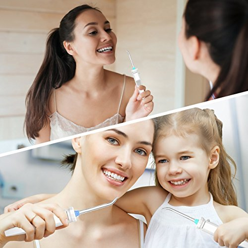Homitt Water Flosser, FDA Approved Family Countertop Dental Oral Irrigator with 9 Multifunctional Tips, 10 Pressure Setting Professional Teeth Cleaner for Easy Dental Care by Homitt (Image #5)