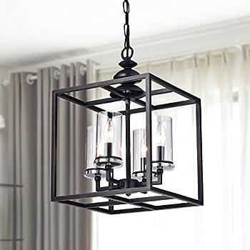 Jojospring la pedriza 4 light antique black lantern chandelier with jojospring la pedriza 4 light antique black lantern chandelier with clear glass cylinders aloadofball Choice Image