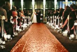 ShinyBeauty Coral-Aisle Runner-50FTX4FT,Sparkle Sequin Fabric Wedding Carpet, Glitter Ceremony Event Aisle Runner (Coral)
