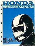 1984-1986 HONDA MOTORCYCLE 500 INTERCEPTOR VF500F SERVICE MANUAL (040)
